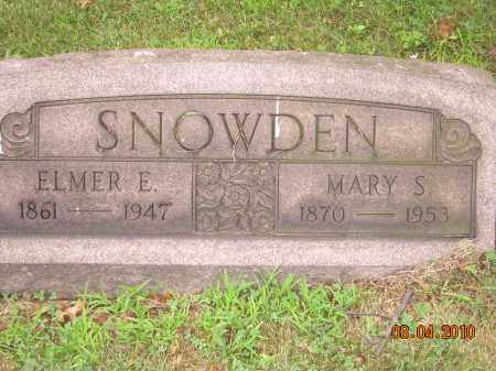 WELCH SNOWDEN, MARY S - Columbiana County, Ohio | MARY S WELCH SNOWDEN - Ohio Gravestone Photos