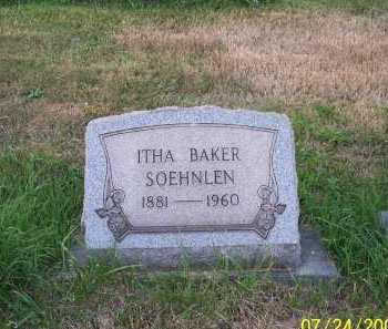 BAKER SOEHNLEN, ITHA - Columbiana County, Ohio   ITHA BAKER SOEHNLEN - Ohio Gravestone Photos