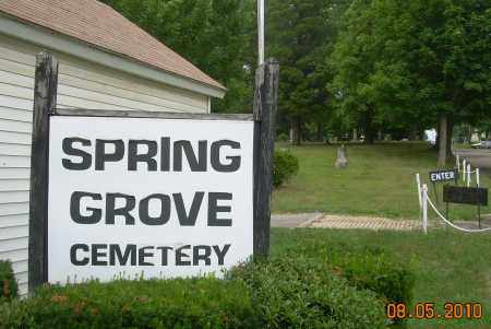 SPRING GROVE CEMETERY, SIGN - Columbiana County, Ohio | SIGN SPRING GROVE CEMETERY - Ohio Gravestone Photos