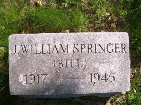 SPRINGER, J WILLIAM (BILL) - Columbiana County, Ohio   J WILLIAM (BILL) SPRINGER - Ohio Gravestone Photos