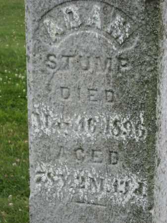 STUMP, ADAM CHALKED - Columbiana County, Ohio   ADAM CHALKED STUMP - Ohio Gravestone Photos