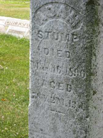 STUMP, ADAM NOT CHALKED - Columbiana County, Ohio | ADAM NOT CHALKED STUMP - Ohio Gravestone Photos