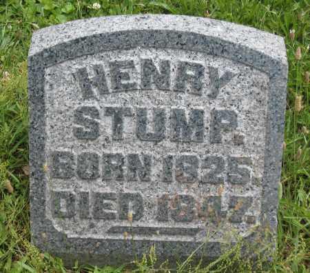 STUMP, HENRY - Columbiana County, Ohio | HENRY STUMP - Ohio Gravestone Photos