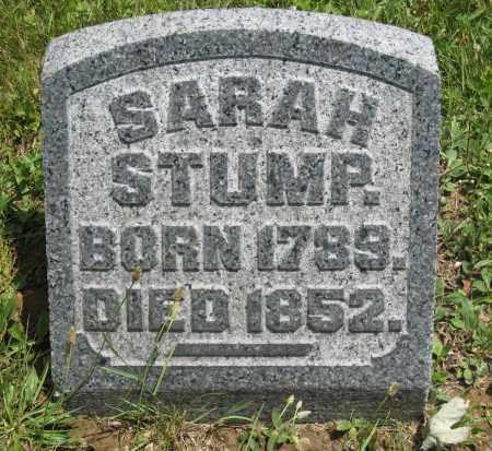 STUMP, SARAH - Columbiana County, Ohio   SARAH STUMP - Ohio Gravestone Photos