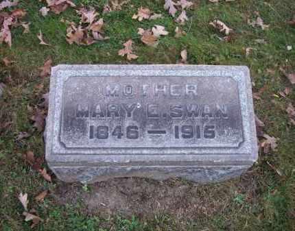 SWAN, MARY E. - Columbiana County, Ohio   MARY E. SWAN - Ohio Gravestone Photos