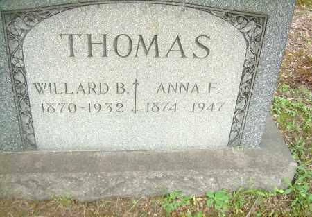 ALLISON THOMAS, ANNA F - Columbiana County, Ohio   ANNA F ALLISON THOMAS - Ohio Gravestone Photos