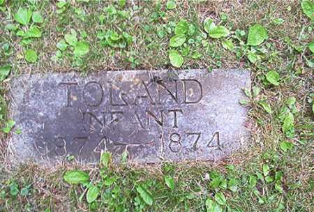 TOLAND, INFANT - Columbiana County, Ohio | INFANT TOLAND - Ohio Gravestone Photos