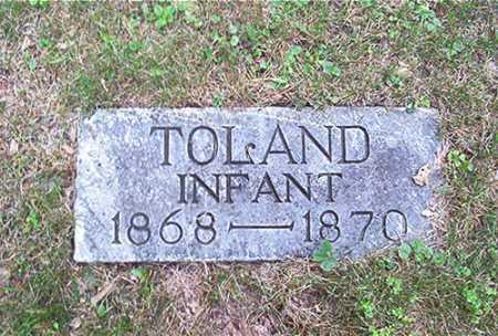 TOLAND, INFANT - Columbiana County, Ohio | INFANT TOLAND - Ohio Gravestone Photos
