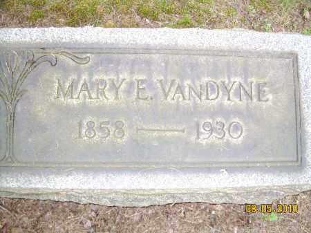 VANDYNE, MARY E - Columbiana County, Ohio | MARY E VANDYNE - Ohio Gravestone Photos