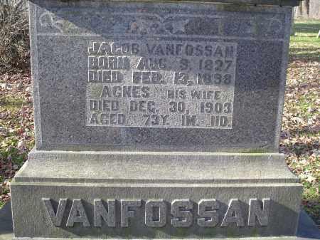 VANFOSSAN, NANCY AGNES - Columbiana County, Ohio | NANCY AGNES VANFOSSAN - Ohio Gravestone Photos