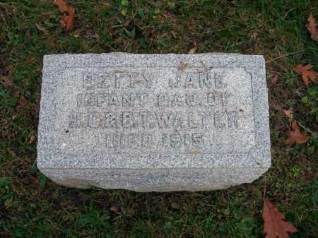WALTER, BETTY JANE - Columbiana County, Ohio | BETTY JANE WALTER - Ohio Gravestone Photos
