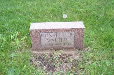 WALTER, RUSSELL B. - Columbiana County, Ohio | RUSSELL B. WALTER - Ohio Gravestone Photos