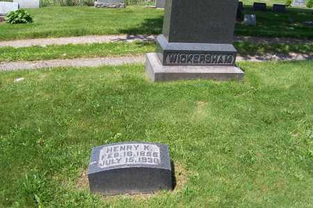 WICKERSHAM, HENRY - Columbiana County, Ohio | HENRY WICKERSHAM - Ohio Gravestone Photos