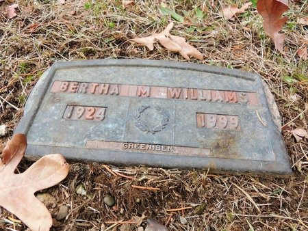 WILLIAMS, BERTHA M - Columbiana County, Ohio | BERTHA M WILLIAMS - Ohio Gravestone Photos
