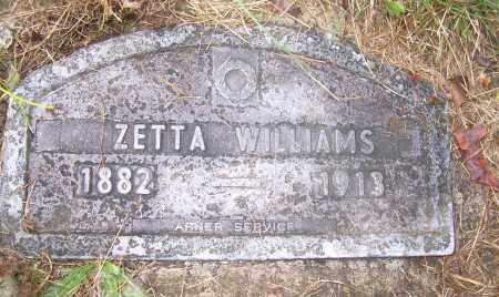 WILLIAMS, ZETTA - Columbiana County, Ohio   ZETTA WILLIAMS - Ohio Gravestone Photos
