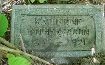 WITHERSPOON, KATHERINE - Columbiana County, Ohio | KATHERINE WITHERSPOON - Ohio Gravestone Photos