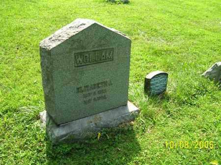 WOLLAM, ELIZABETH J. - Columbiana County, Ohio | ELIZABETH J. WOLLAM - Ohio Gravestone Photos