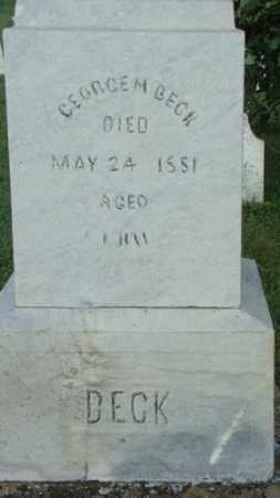 BECK, GEORGE - Coshocton County, Ohio | GEORGE BECK - Ohio Gravestone Photos