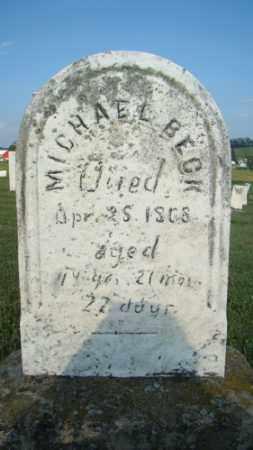 BECK, MICHAEL - Coshocton County, Ohio | MICHAEL BECK - Ohio Gravestone Photos