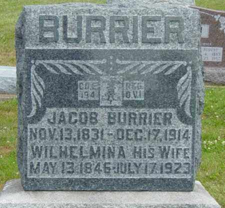 BURRIER, WILHELMINA - Coshocton County, Ohio | WILHELMINA BURRIER - Ohio Gravestone Photos