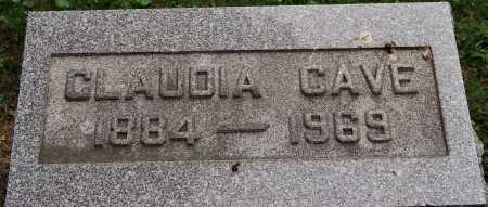 CAVE, CLAUDIA - Coshocton County, Ohio | CLAUDIA CAVE - Ohio Gravestone Photos