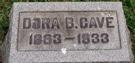 CAVE, DORA B. - Coshocton County, Ohio   DORA B. CAVE - Ohio Gravestone Photos