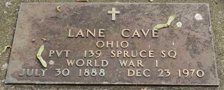 CAVE, LANE - Coshocton County, Ohio | LANE CAVE - Ohio Gravestone Photos