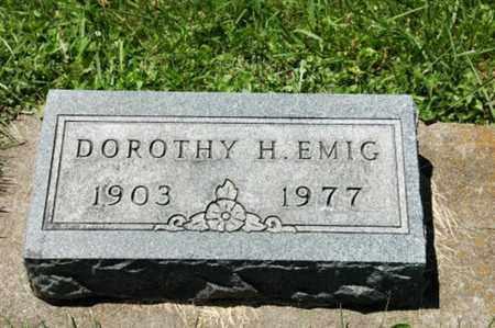 EMIG, DOROTHY H. - Coshocton County, Ohio   DOROTHY H. EMIG - Ohio Gravestone Photos
