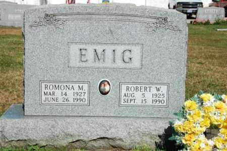 EMIG, ROBERT W. - Coshocton County, Ohio | ROBERT W. EMIG - Ohio Gravestone Photos