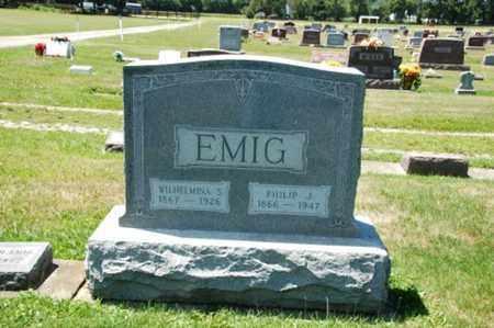 SHUMACHER EMIG, WILHELMINA - Coshocton County, Ohio | WILHELMINA SHUMACHER EMIG - Ohio Gravestone Photos