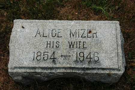 MIZER EVERHART, ALICE - Coshocton County, Ohio   ALICE MIZER EVERHART - Ohio Gravestone Photos