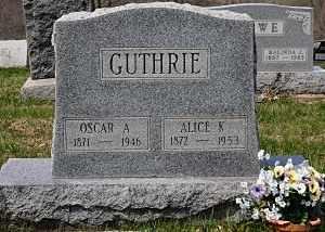 GUTHRIE, OSCAR A. - Coshocton County, Ohio   OSCAR A. GUTHRIE - Ohio Gravestone Photos