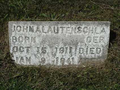 A LAUTENSCHLAGER, JOHN - Coshocton County, Ohio | JOHN A LAUTENSCHLAGER - Ohio Gravestone Photos