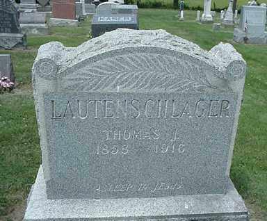 LAUTENSCHLAGER, THOMAS J. - Coshocton County, Ohio | THOMAS J. LAUTENSCHLAGER - Ohio Gravestone Photos