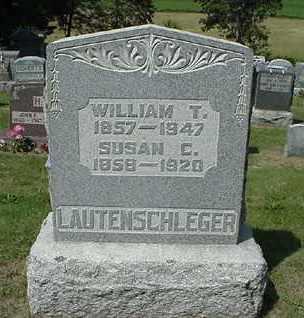 LAUTENSCHLEGER, WILLIAM T - Coshocton County, Ohio | WILLIAM T LAUTENSCHLEGER - Ohio Gravestone Photos