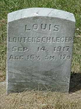 LOUTENSCHLEGER, LOUIS - Coshocton County, Ohio   LOUIS LOUTENSCHLEGER - Ohio Gravestone Photos