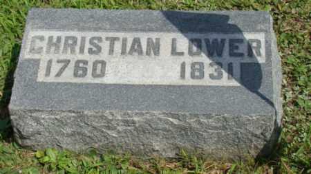 LOWER, CHRISTIAN - Coshocton County, Ohio | CHRISTIAN LOWER - Ohio Gravestone Photos