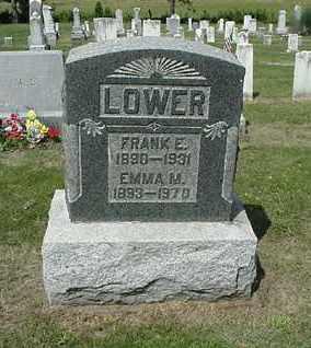 LOWER, FRANK E. - Coshocton County, Ohio | FRANK E. LOWER - Ohio Gravestone Photos
