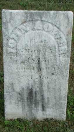 LOWER, JOHN - Coshocton County, Ohio   JOHN LOWER - Ohio Gravestone Photos