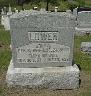 LOWER, JOHN G. - Coshocton County, Ohio | JOHN G. LOWER - Ohio Gravestone Photos