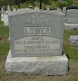 LOWER, JOHN G. - Coshocton County, Ohio   JOHN G. LOWER - Ohio Gravestone Photos