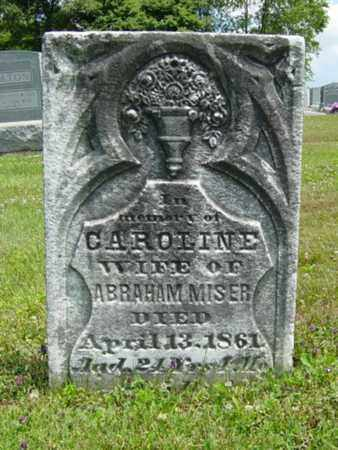 MISER, CAROLINE - Coshocton County, Ohio   CAROLINE MISER - Ohio Gravestone Photos