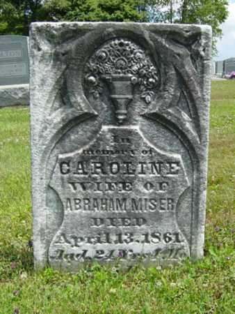 MISER, CAROLINE - Coshocton County, Ohio | CAROLINE MISER - Ohio Gravestone Photos