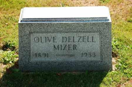 DELZELL MIZER, OLIVE - Coshocton County, Ohio   OLIVE DELZELL MIZER - Ohio Gravestone Photos