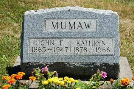 MUMAW, JOHN F. - Coshocton County, Ohio | JOHN F. MUMAW - Ohio Gravestone Photos
