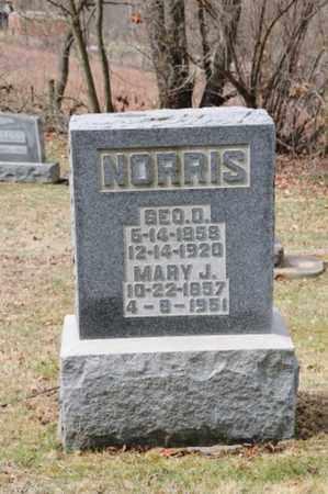 BIBLE NORRIS, MARY J - Coshocton County, Ohio | MARY J BIBLE NORRIS - Ohio Gravestone Photos