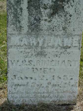 RINEHART, MARY JANE - Coshocton County, Ohio   MARY JANE RINEHART - Ohio Gravestone Photos