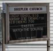 SHEPLER, CHURCH SIGN - Coshocton County, Ohio | CHURCH SIGN SHEPLER - Ohio Gravestone Photos
