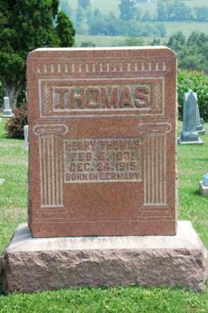 THOMAS, HENRY - Coshocton County, Ohio | HENRY THOMAS - Ohio Gravestone Photos