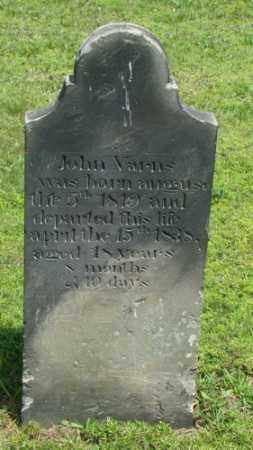VARNS, JOHN - Coshocton County, Ohio | JOHN VARNS - Ohio Gravestone Photos